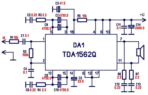 Tda7294 Audio Amplifier Circuits