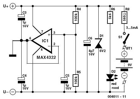 Photo of Switching Power Supply Schematic.