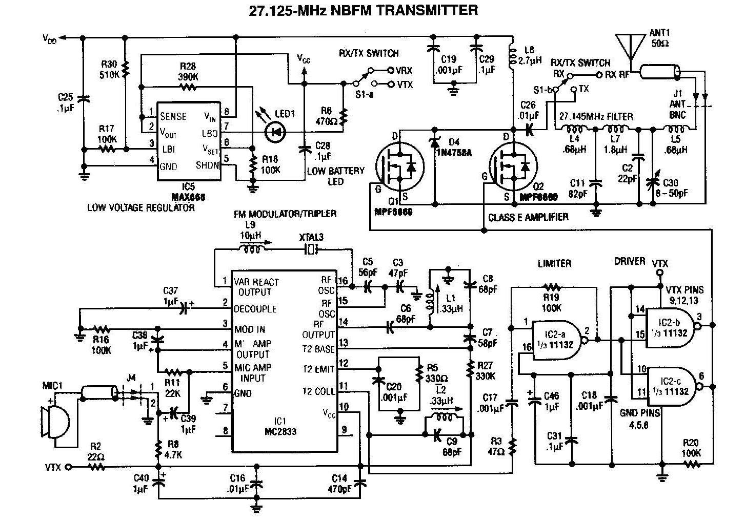 27mhz cb amplifier circuit