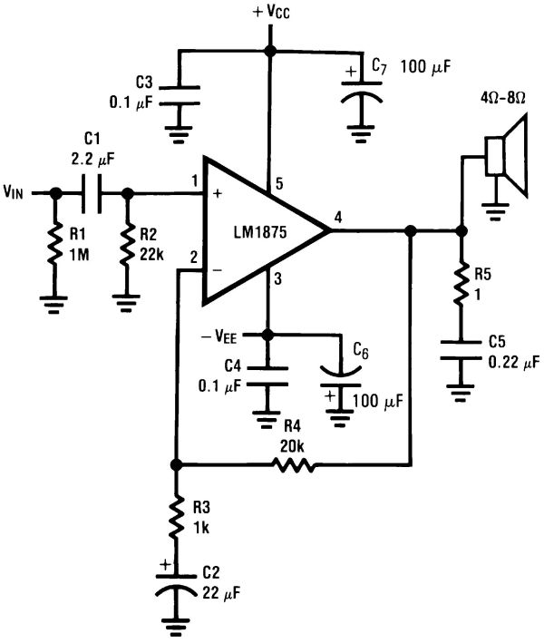lm1875 audio amplifier: www.electroschematics.com/1187/lm1875-amplifier