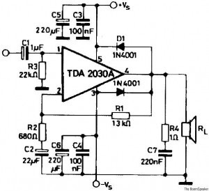 TDA2030 схема