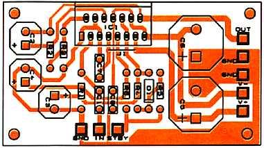 TDA7294 PCB layout.