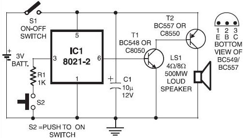 electronic doorbell circuit