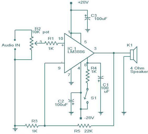 LM3886 schematic version 2.