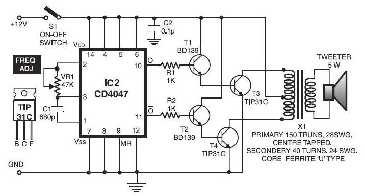 Electronic Pest Repellent Circuit