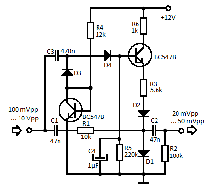 Mini Audio Compressor Schematic
