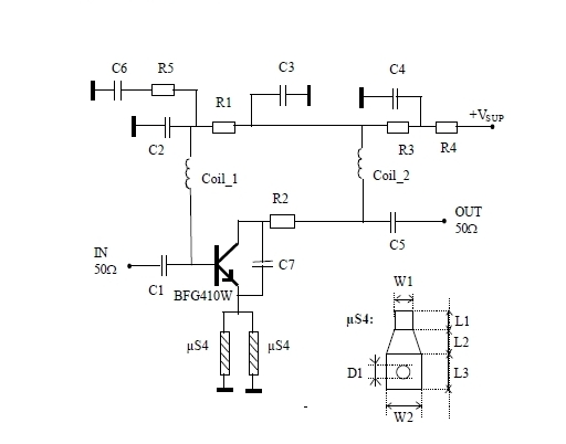 900 mhz radio amplifier circuit