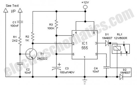 clock alarm light switch circuit