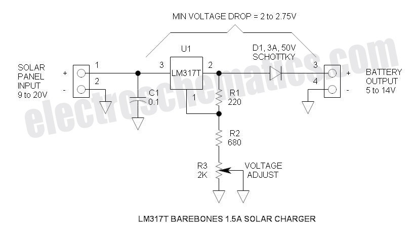 Solar Battery Charger Circuit