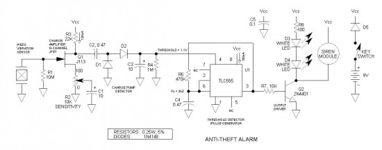 Anti-Theft Schematic