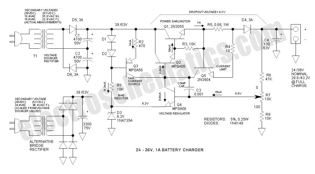 battery chargers circuits and projects