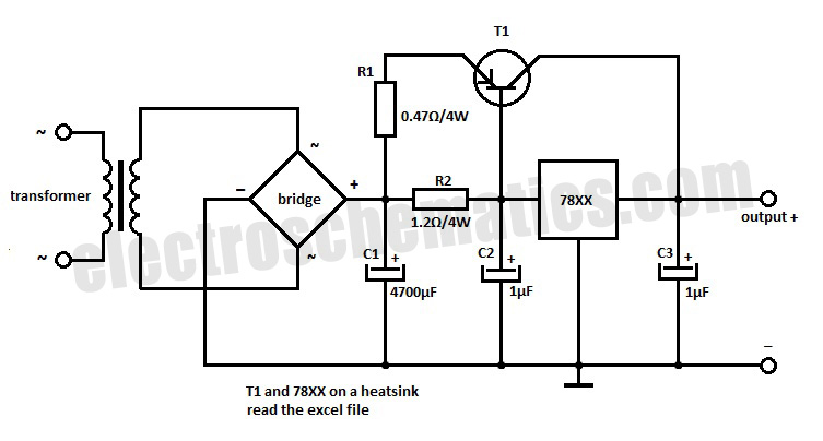 Variable Power Supply With Ua78gua79g together with Page 46054 as well Tricky Charger moreover 78xx Voltage Regulator Extension together with Schematic Symbols. on variable power supply schematic