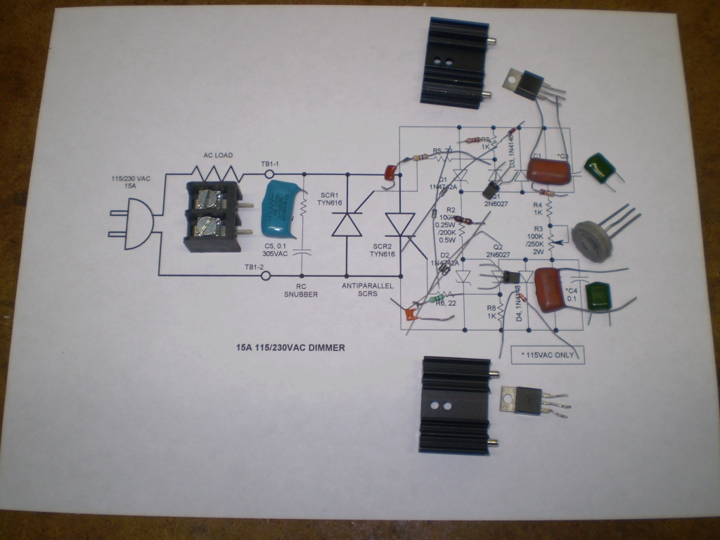 Scr Phase Control Speed Control Dimmer