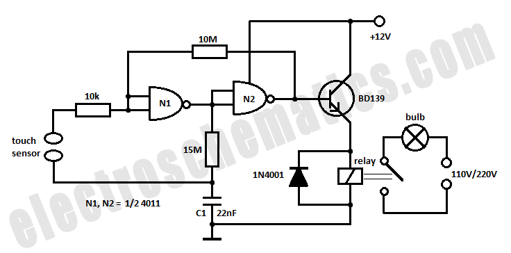 touch lamp wiring diagram